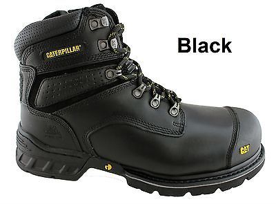 8a263290a31 CATERPILLAR CAT BRAKEMAN SIDE ZIP MENS STEEL TOE WORK SAFETY BOOTS SHOES  DURABLE