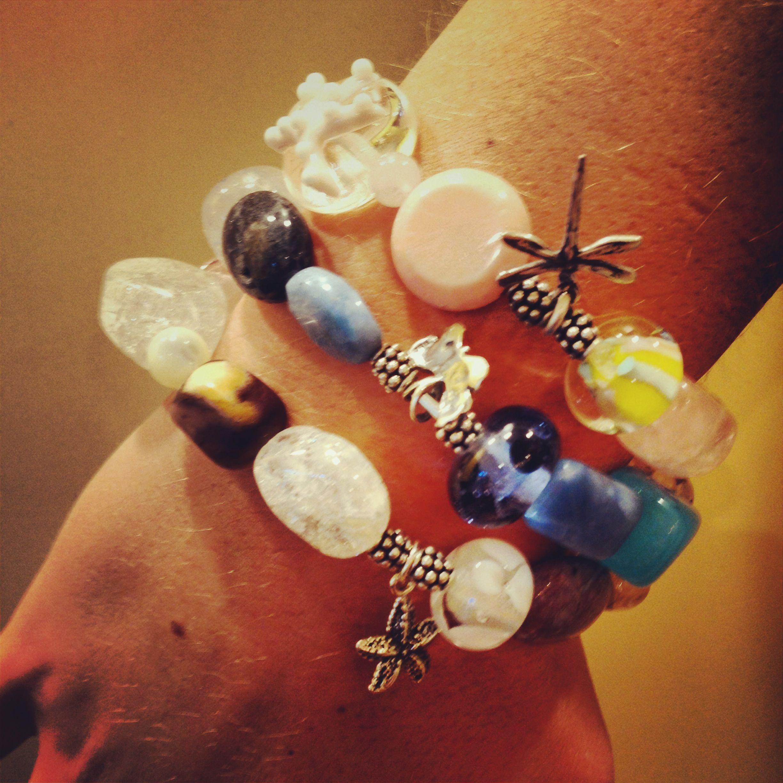 Many Gemstone bracelets! #Gemstonebracelets #Graduationbracelets #Elasticgemstonebracelets #Healingbracelets #Gemstonejewelry