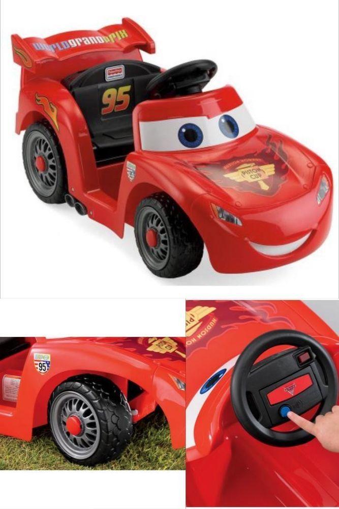 Fyi Ride On Car Electric Red 6v Battery Power Wheels Lightning Mcqueen Kids Race Toy Lightning Mcqueen Power Wheels Kids Races Power Wheels