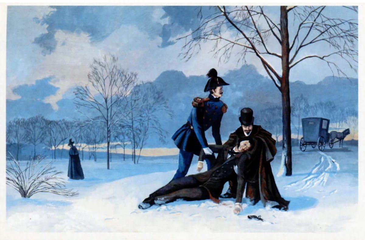 Картинки о дуэли пушкина