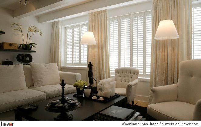 Raambekleding Woonkamer » Gordijnen en raamdecoratie voor een ...
