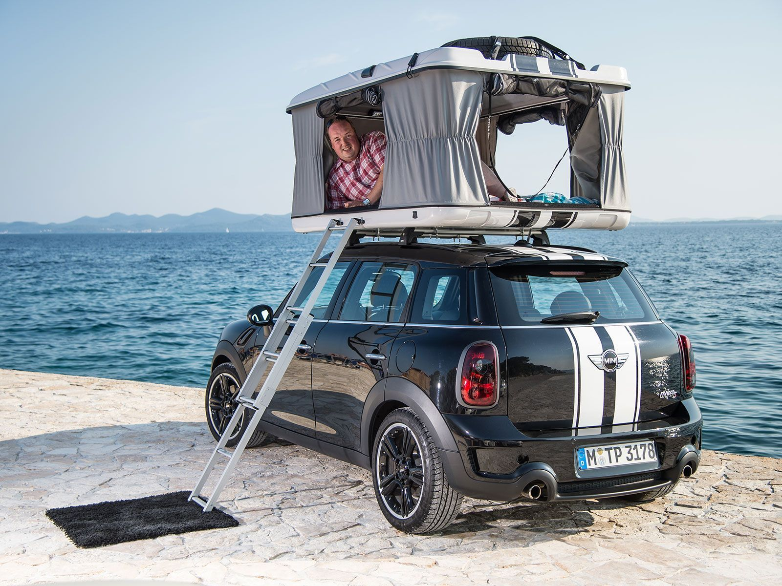 Mini Countryman Camp Tent Driver Side Rear View 12