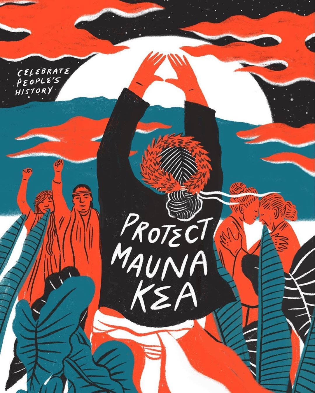 We Are Mauna Kea Standing In Solidarity With Protesters On Mauna Kea Protecting The Sacred Aina From Scientific Imperialism Powerful Art Art Sacred Places