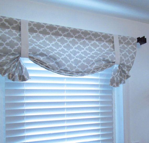 French Gray Quatrefoil Tie Up Curtain Valance By Supplierofdreams Decoracion De Interiores Decoracion De Unas Cortinas