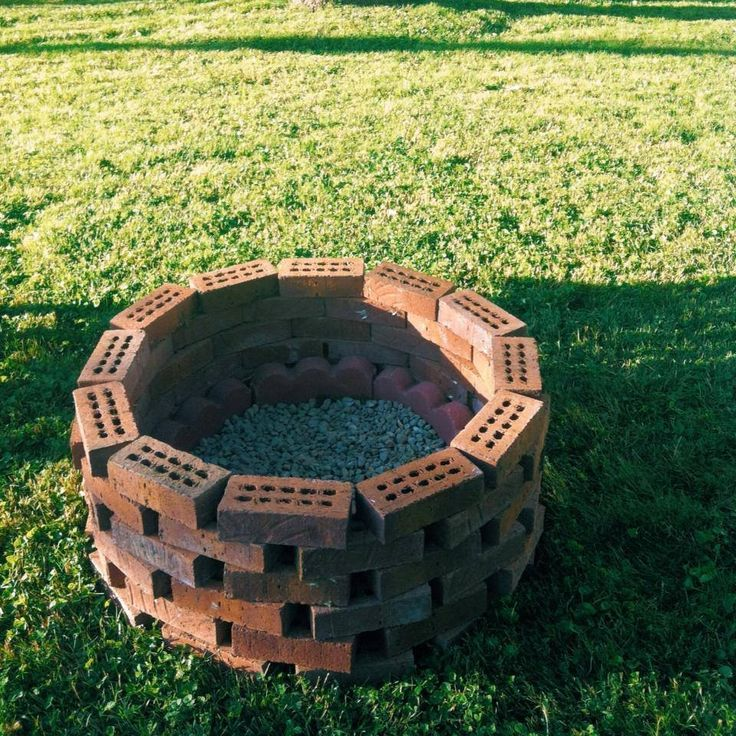 Diy Fire Pit Instructions From A Brick Mason Description Pinterest Com I Searched For This On Bin Backyard Bonfire Outdoor