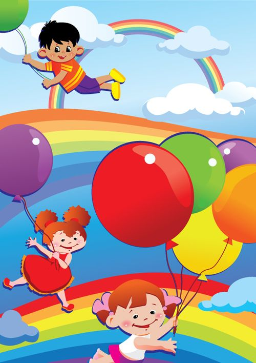 free lovely cartoon kids vector illustrations google search - Free Images Of Kids