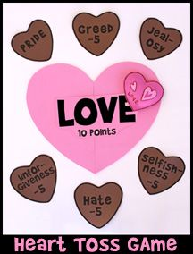 heart toss bible game for sunday school from wwwdaniellesplacecom valentines - Valentine Games For Church