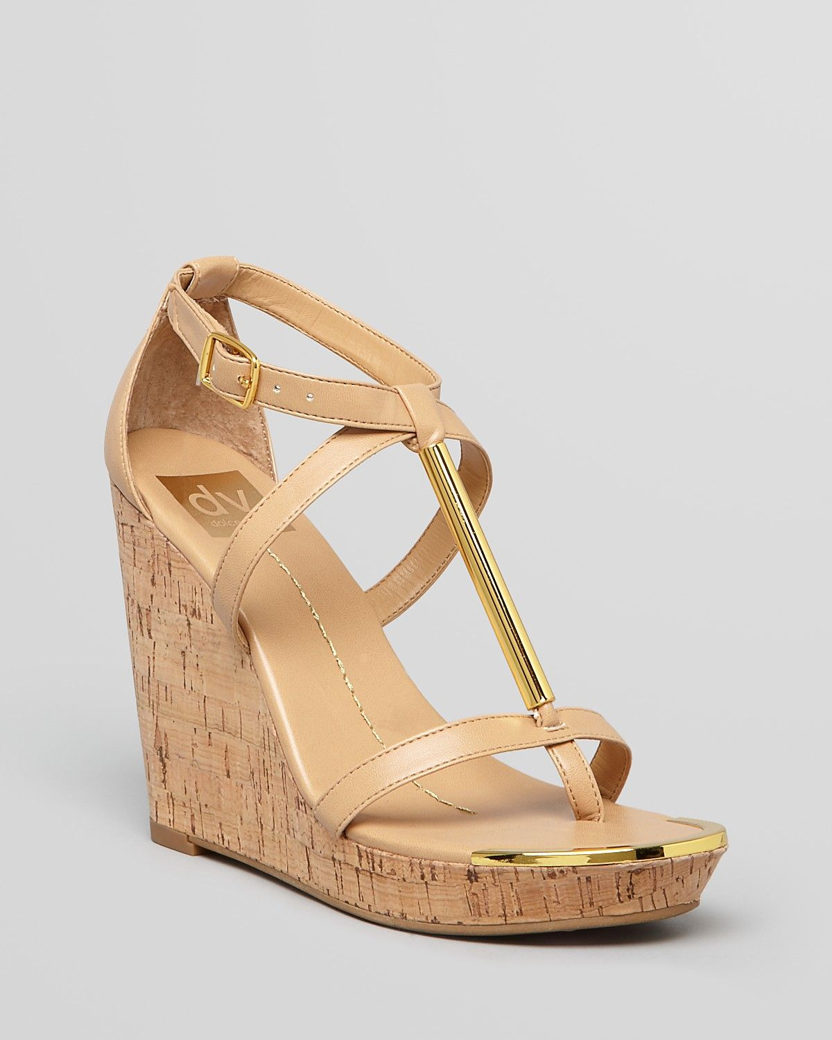 Urban Outfitters Dv By Dolce Vita Tremor Tstrap Wedge
