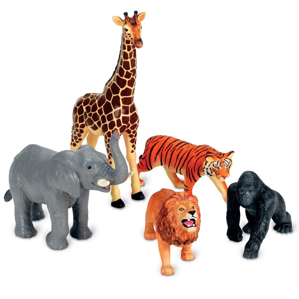 amazoncom learning resources jumbo jungle animals toys games - Chambre Jungle Fly