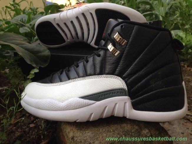 sports shoes d4e80 6d244 Noir Blanc AIR JORDAN 12 RETRO 130690-001 PLAYOFF