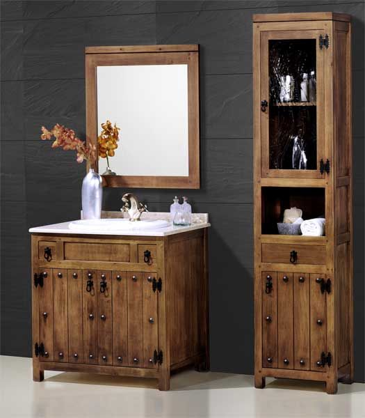 Pin de artesania y decoracion l c en muebles rusticos en for Confeccionamos muebles de bano en palet
