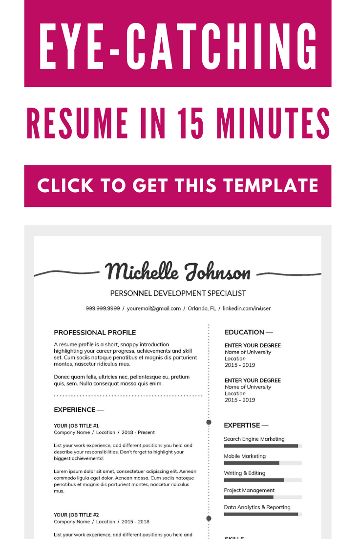 Make a best resume in minutes with this resume template ...