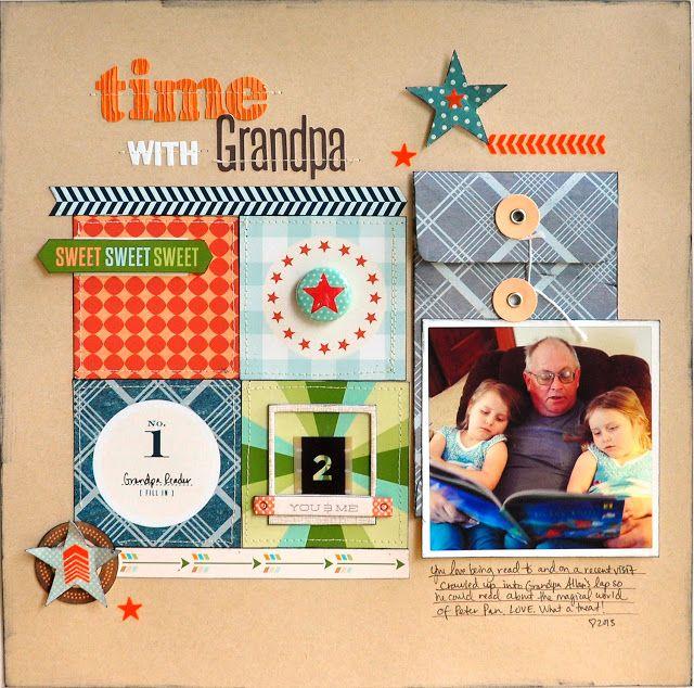 Scrapbook Circle: Time with Grandpa