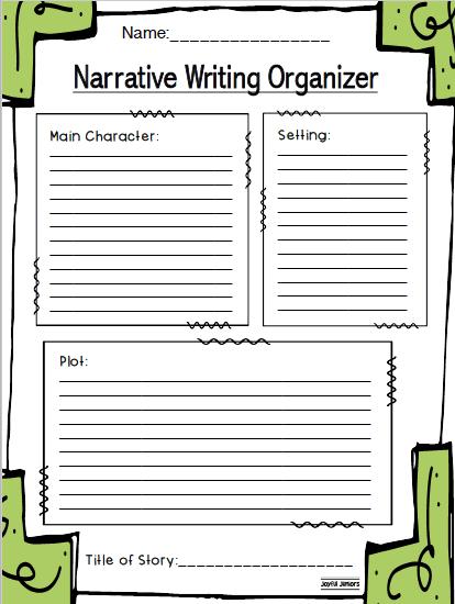 Narrative Writing Graphic Organizer and Storyboard | Literacy