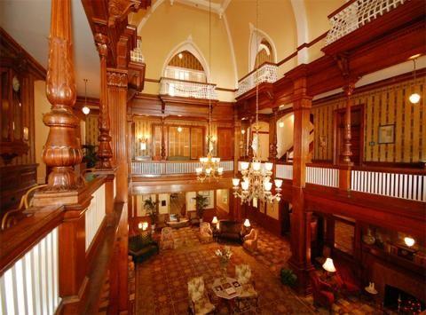 Windsor Hotel Red Interior Americus Georgia United States