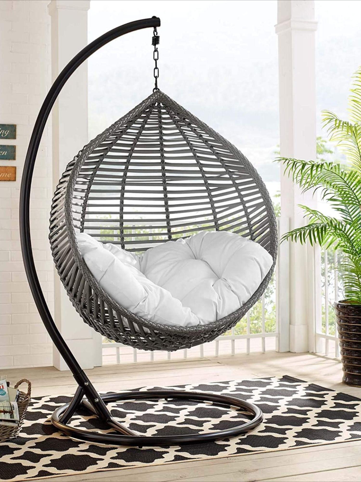 Outdoor Patio Wicker Rattan Teardrop Swing Chair In 2020 Swing Chair Outdoor Patio Swing Chair Outdoor Patio Swing