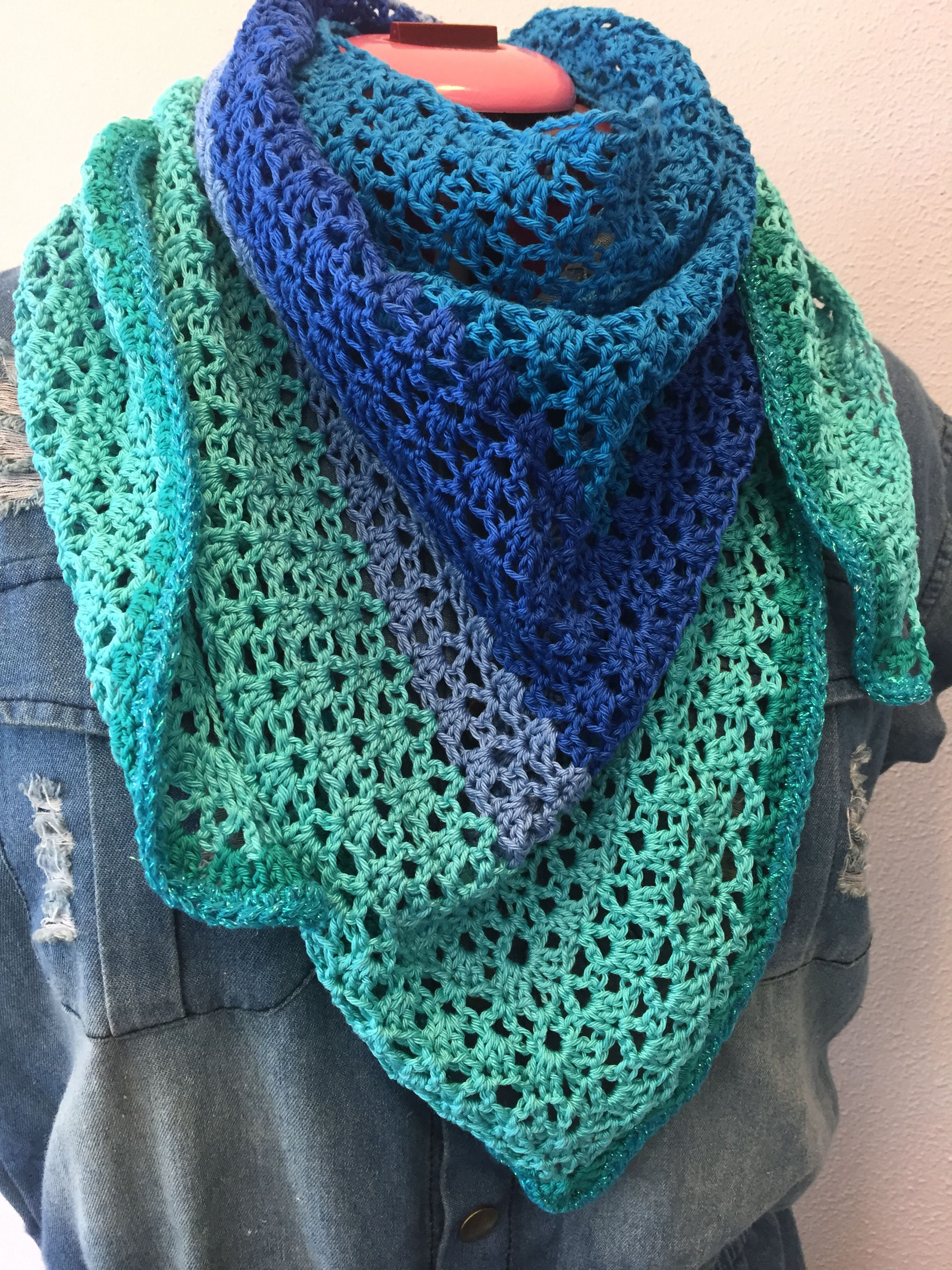 Bekend Haakpatroon omslagsjaal | tricotaje si crosetaje - Crochet scarves #VZ09