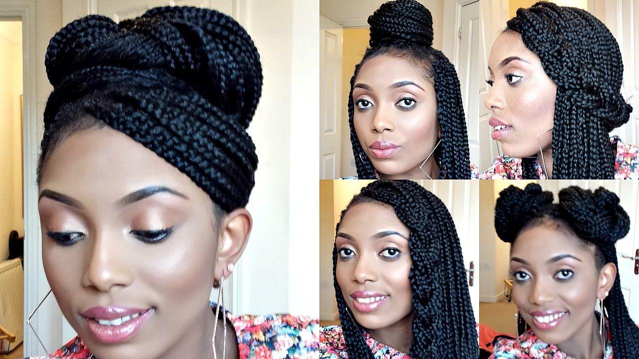 Styling box braids simple and elegant styles youtube braids