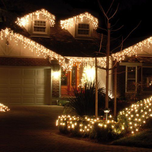 180 Warm White Led Snowing Icicle Lights Free Battery Lights By Uk Christmas World Http Www Amazon Co Uk Dp B009c7qr2c Ref Cm S Fairy Lights Isiklar Evler