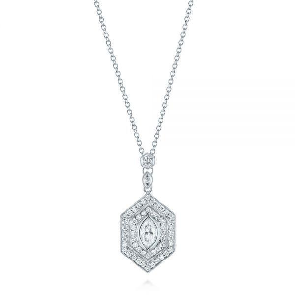 Custom diamond pendant marquise diamond pendants and diamond custom diamond pendant mozeypictures Choice Image