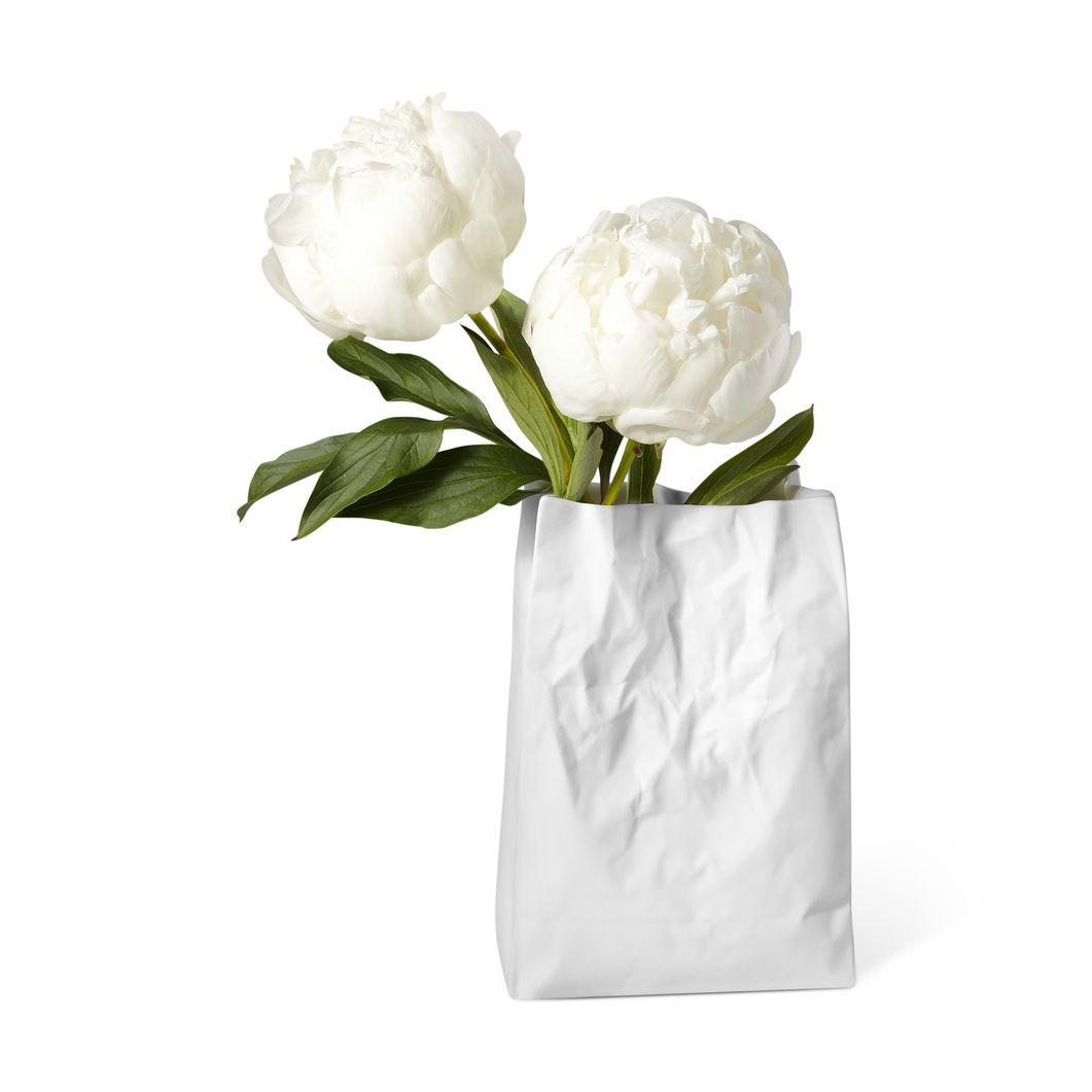 Crinkle Bag Vase In Color Flower Vase Design Flower Vases
