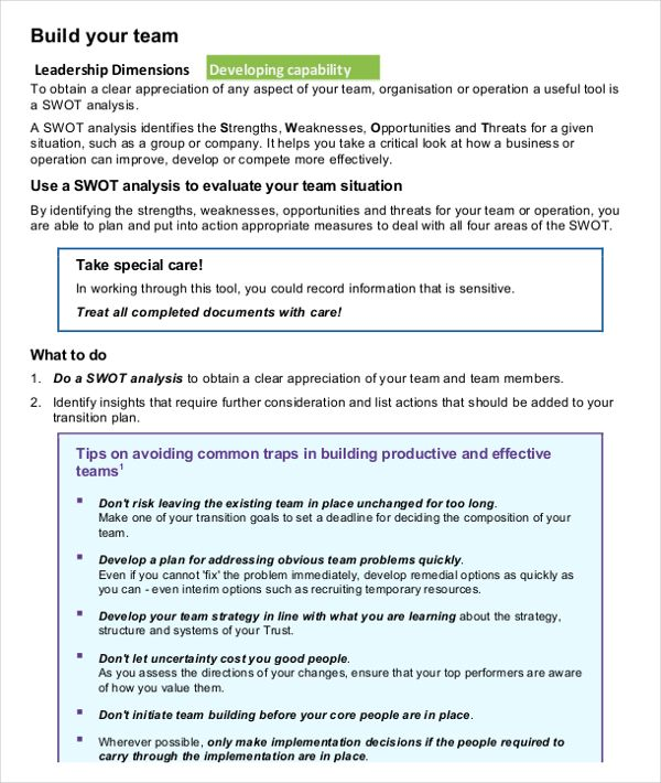 Swot Analysis Examples Download Sample Free Word Pdf Documents