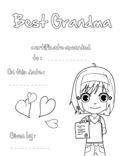 Card For Grandma On Mothers Day Coloring Pages Printable Mothers