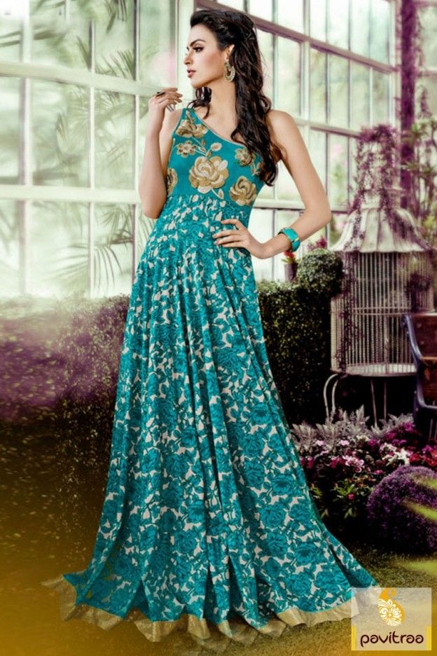 Get the complete appearance fashionable light sea green off shoulder wedding gown collection in affordable price. Paired it with matching ornaments and jewels. #gown, #designergown more: http://www.pavitraa.in/store/gown/