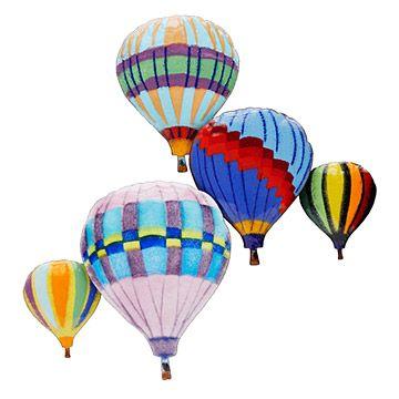 Balloons In Flight Wall Sculpture Hot Air Balloon Wall Art