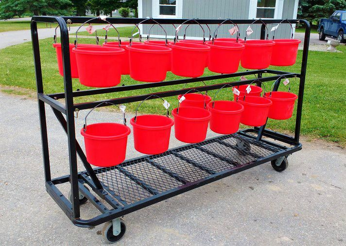 Horse feed and water buckets | Horse barn designs, Horse ...