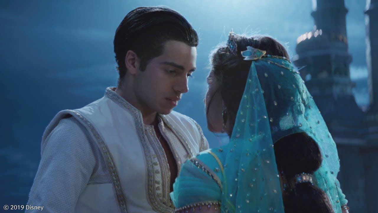 Aladdin And Jasmine First Kiss Aladdin 2019 Aladdin And Jasmine