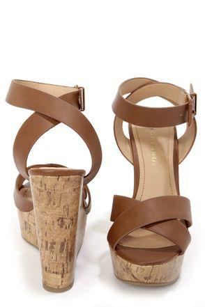 36df5d15c8 Corked Rum Platform Wedge Sandals, Wedge Heels, Feminine Style, Feminine  Fashion, Vegan