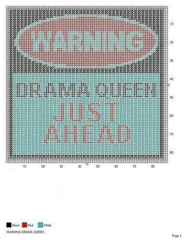 WARNING DRAMA QUEEN -- WALL HANGING