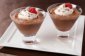 Irish cream liqueur gives this chocolate mousse its deep, complex flavor. Top with raspberries and wow the after-dinner crowd.