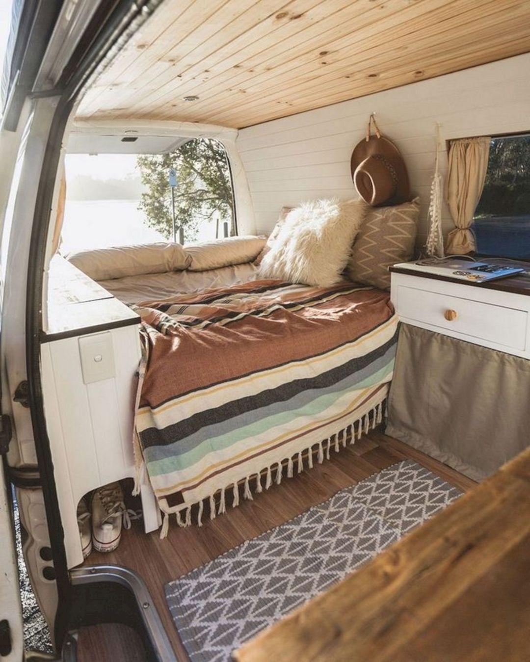 17 Impressive Small RV Interior Design For Comfortable Camping Ideas #campingideas