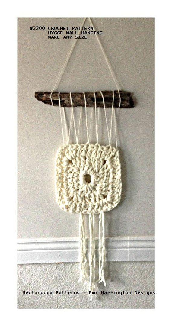 Crochet Patterns Wall decor fiber art wall hanging   Arte ...