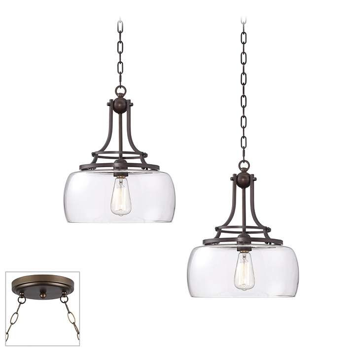 Charleston Bronze And Glass 2 Light Swag Chandelier 21c54 Lamps Plus Swag Chandelier Bronze Pendant Light Lamps Plus