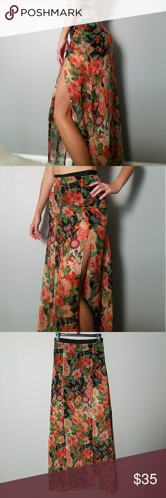 Topshop high waisted maxi skirt with shorts my posh picks