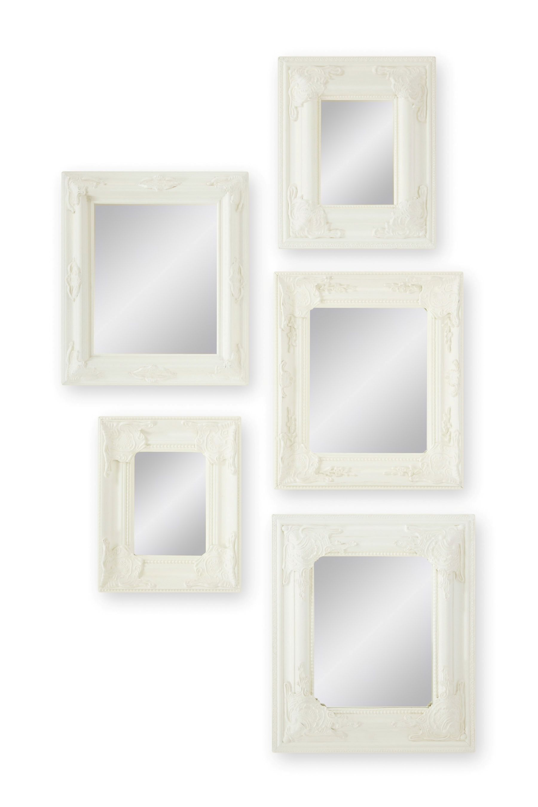 Buy Set Of 5 Cream Scatter Mirrors from the Next UK online shop | 55 ...