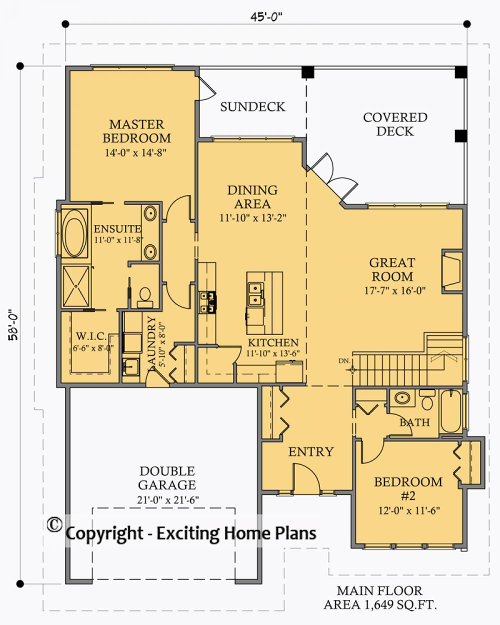 E1049 10 Main Floor Plan Bungalow House Plans House Plans Online House Plans