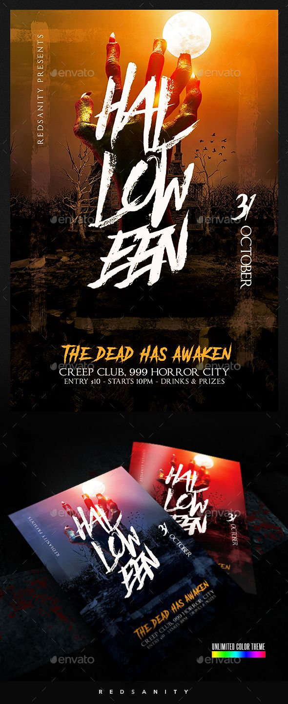 Halloween Flyer Template Psd Download Very Easy To Edit Photoshop
