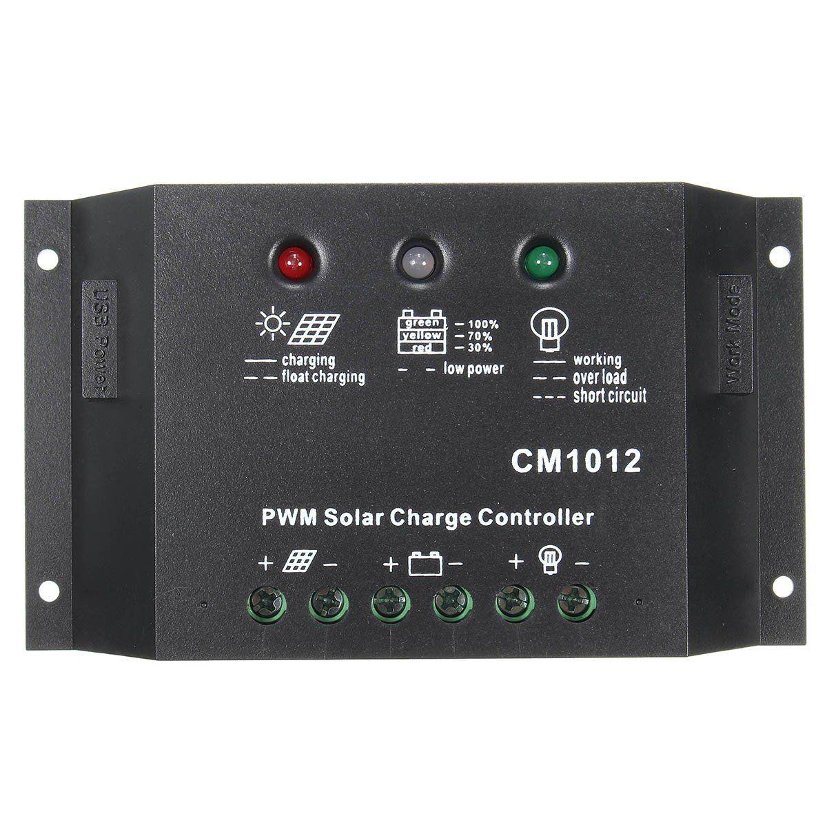 10a 12v 24v Led Usb Pwm Solar Panel Charge Controller Battery Regulator Solar Panels Solar Usb