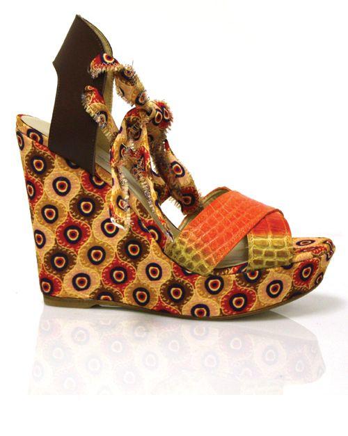 Orange Bali Wedge by Theodora & Callum | Gorgeous shoes. Lace up espadrilles. Nice shoes