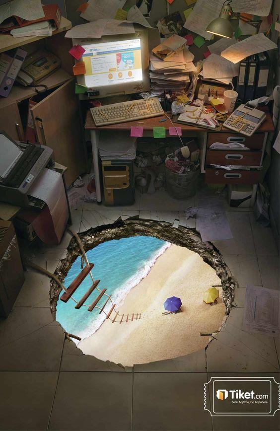 Escapemos a la playa. #PublicidadCreativa #Publicidad #3WV #FabricandoIdeas