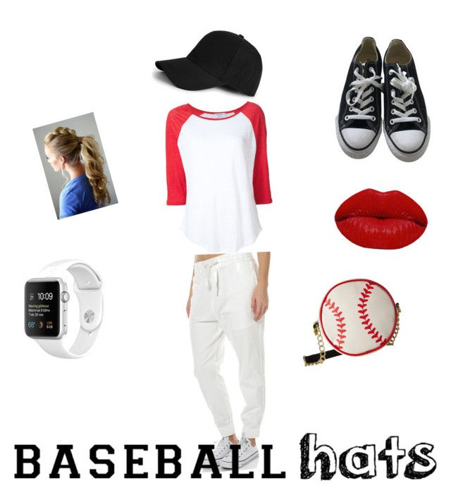 """baseball hats ♥"" by emales12 on Polyvore featuring Boohoo, Betsey Johnson, Winky Lux, Frame Denim and Converse"