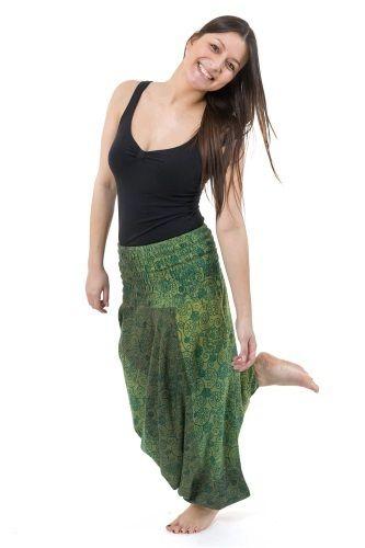 Haremsbyxor Green Chine - One size haremsbyxa för både killar och tjejer. Härliga gröna färger! We all have the same light shining within us