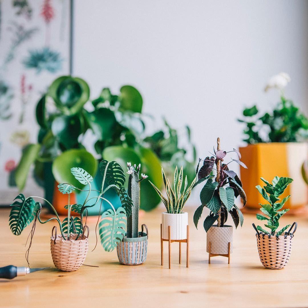 Tiny Paper Houseplants You Ll Wish Were Large Enough For Your Home Paper Plants Paper Plant Pots Big House Plants