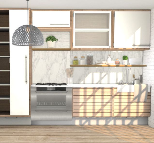 Sims 4 Kitchen Cabinets Cc Elegant Minc C Series Light ...