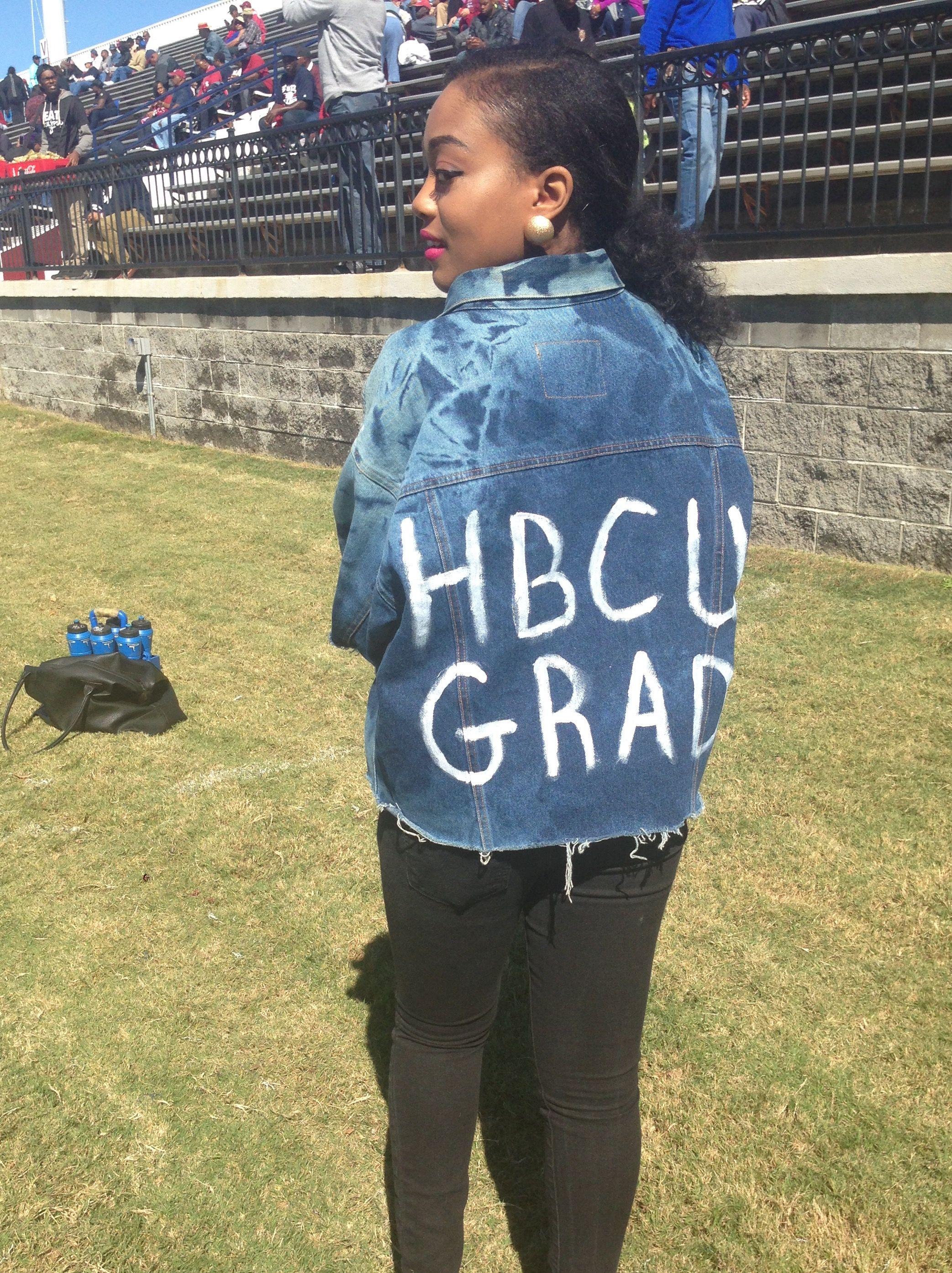 Denim jacket, DIY, HBCU