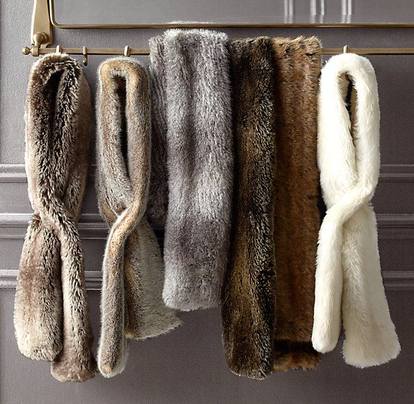 Just purchased these Luxe Faux Fur Scarves from Restoration Hardware! LOVE  THEM! 0df4a7576257d
